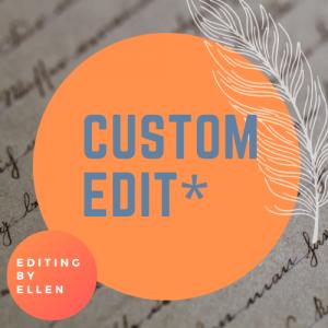 custom edit service writing
