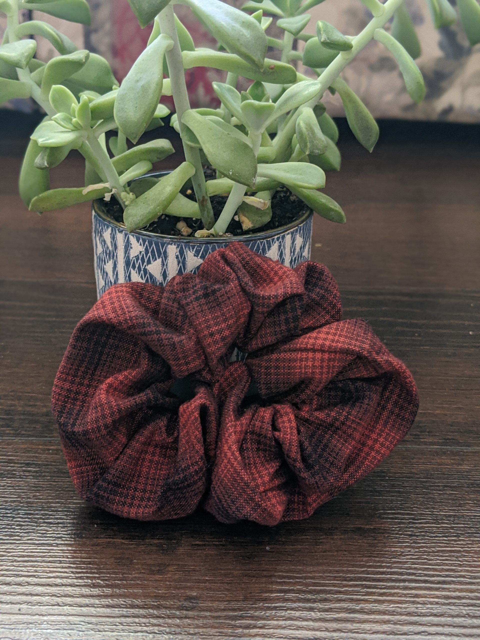 Plaid Scrunchie 1