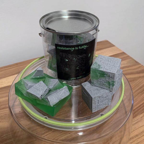 star trek borg cube soap set