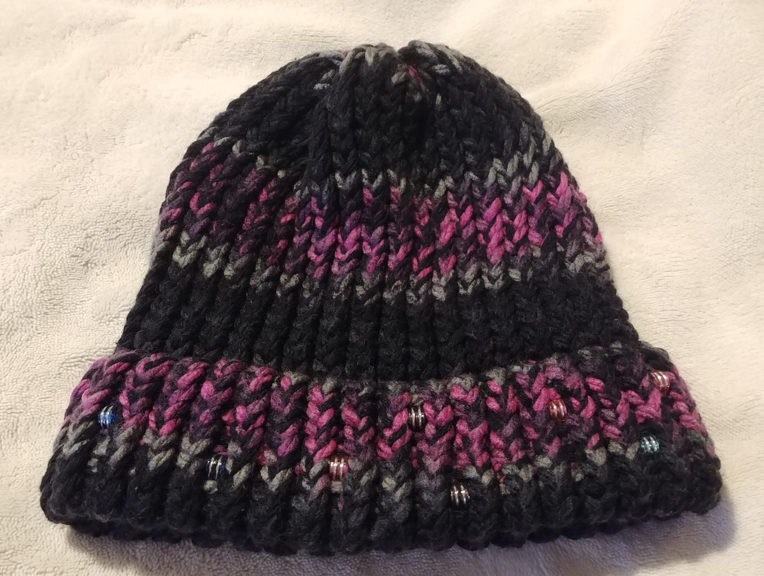 Black Pink Beaded