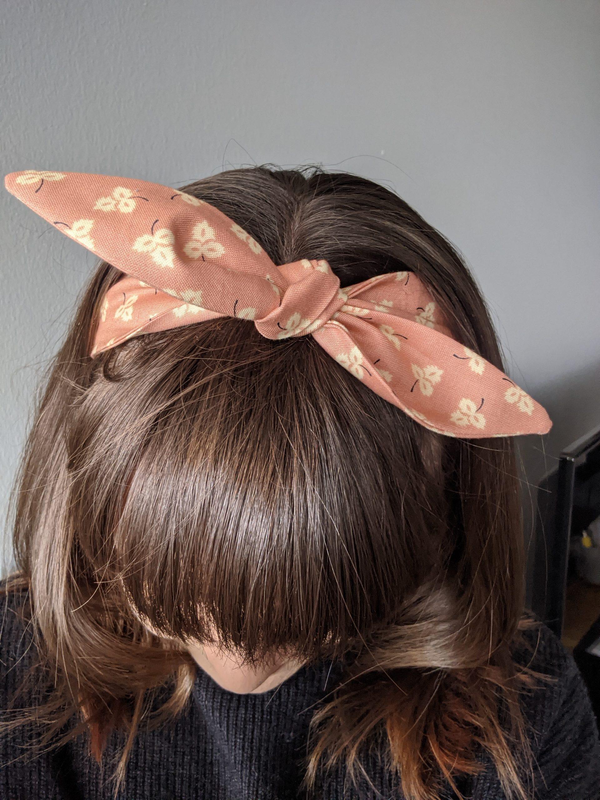 Winter peach headband 3