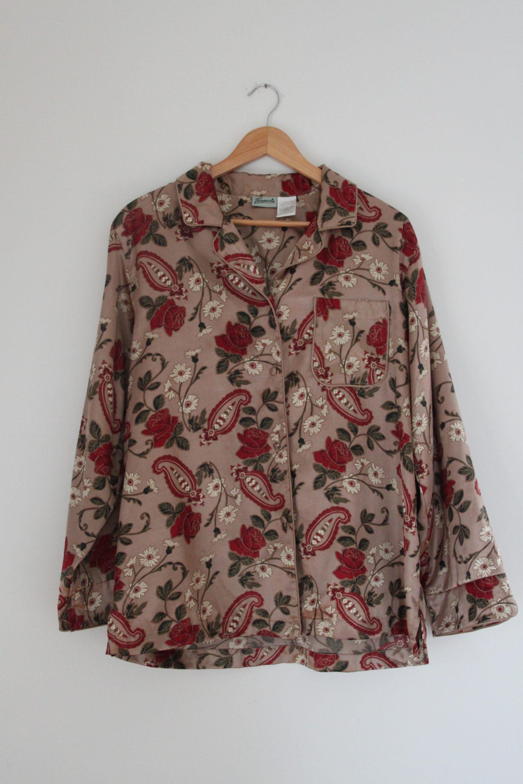 silk pj shirt