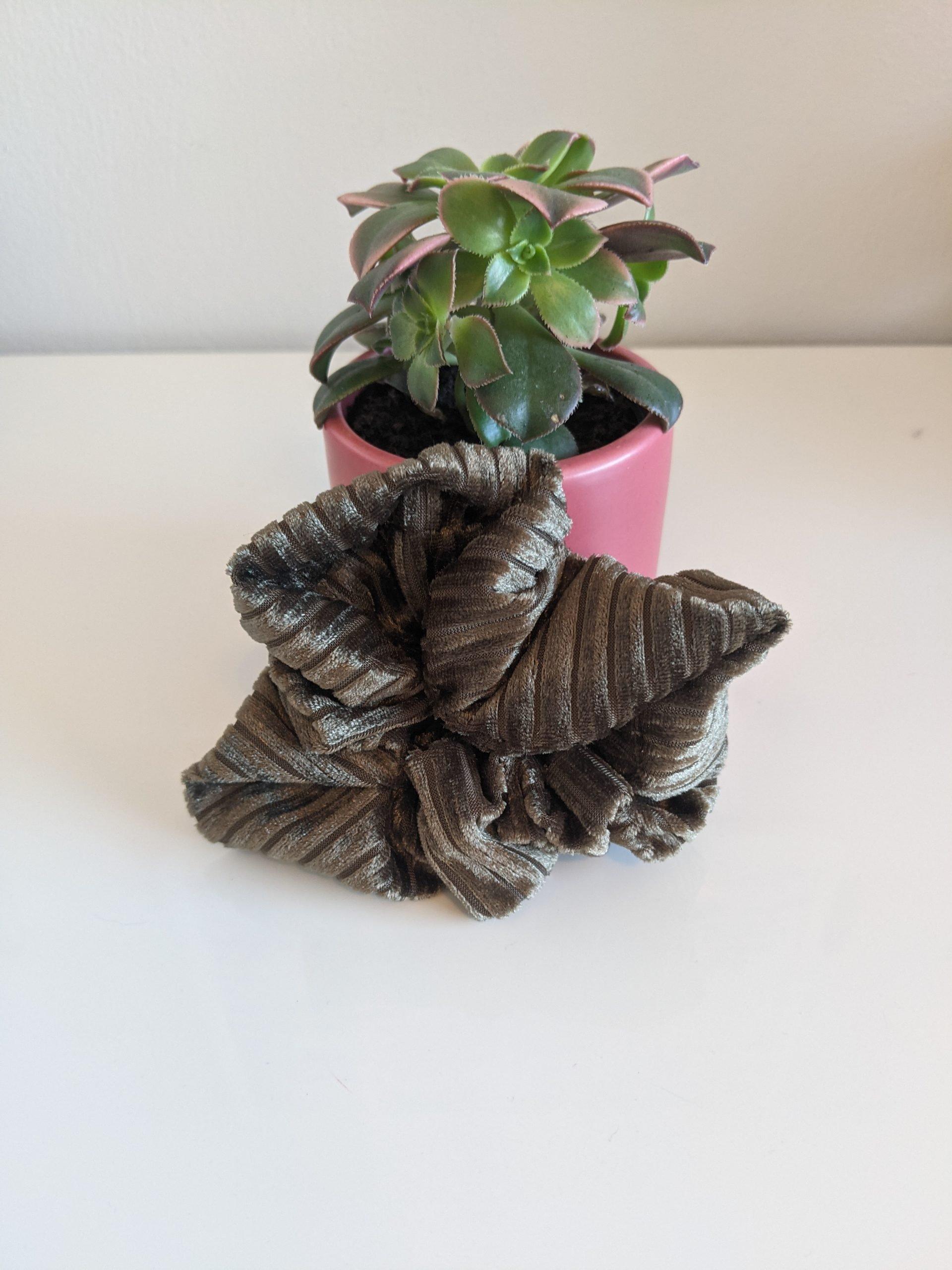 Velvet Forest scrunchie front