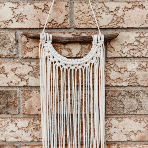 Half Moon Macrame Dark Wood