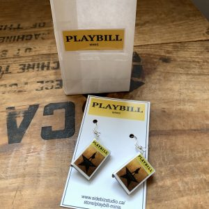 playbill mini hamilton earrings