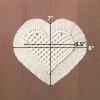 Heart coaster dimensions