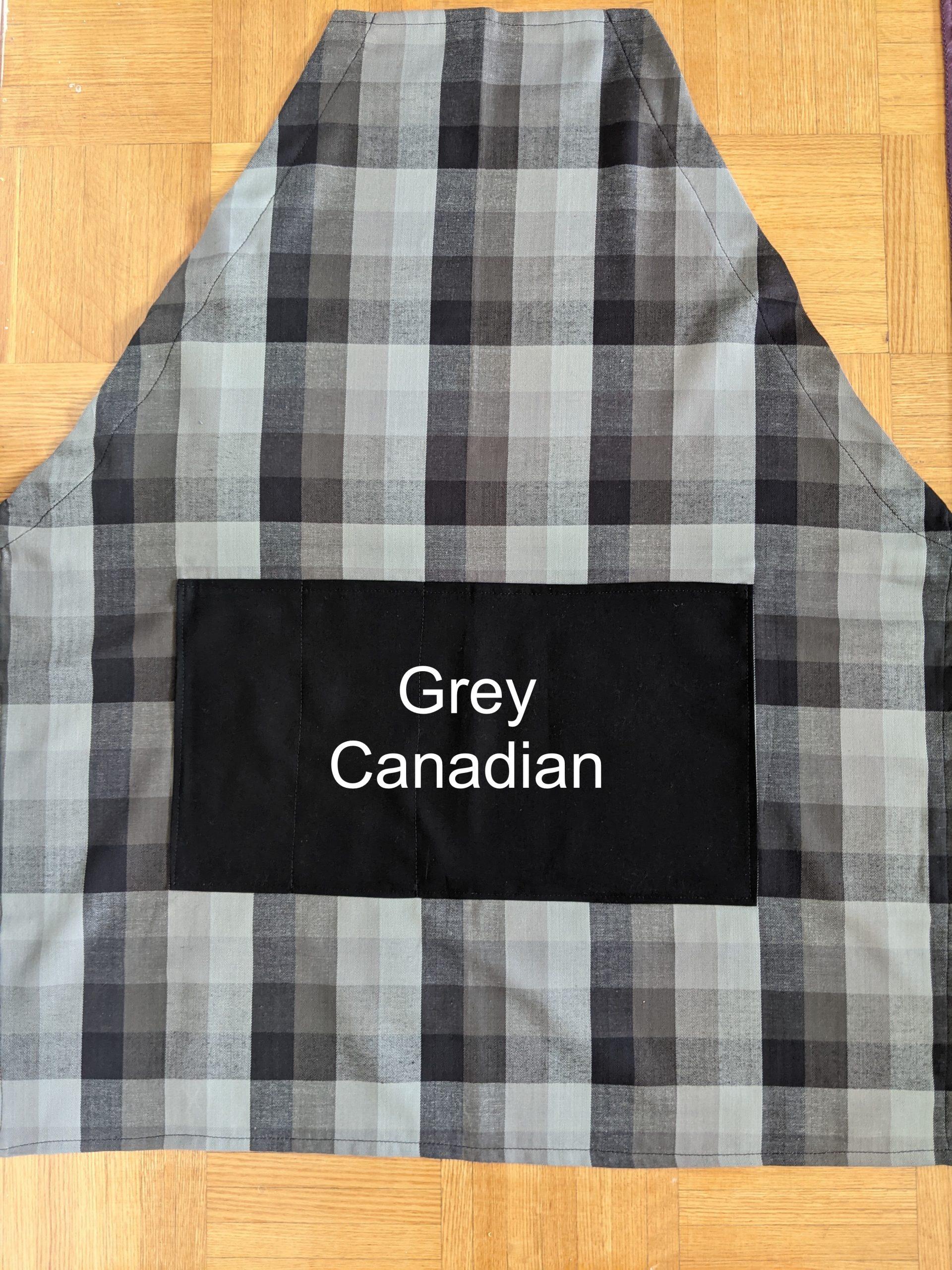 Grey Canadian Apron